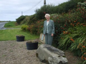 Bridie Quinn pictured in Erris at Danny's Stone